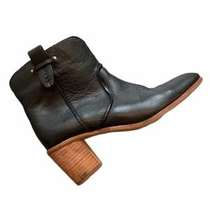 G.H. Bass Black Leather Ankle Booties, 8.5